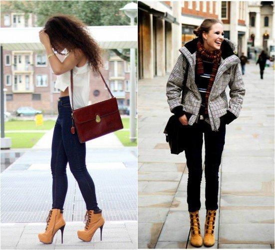Женские ботинки Тимберленд: история бренда и стильные образы