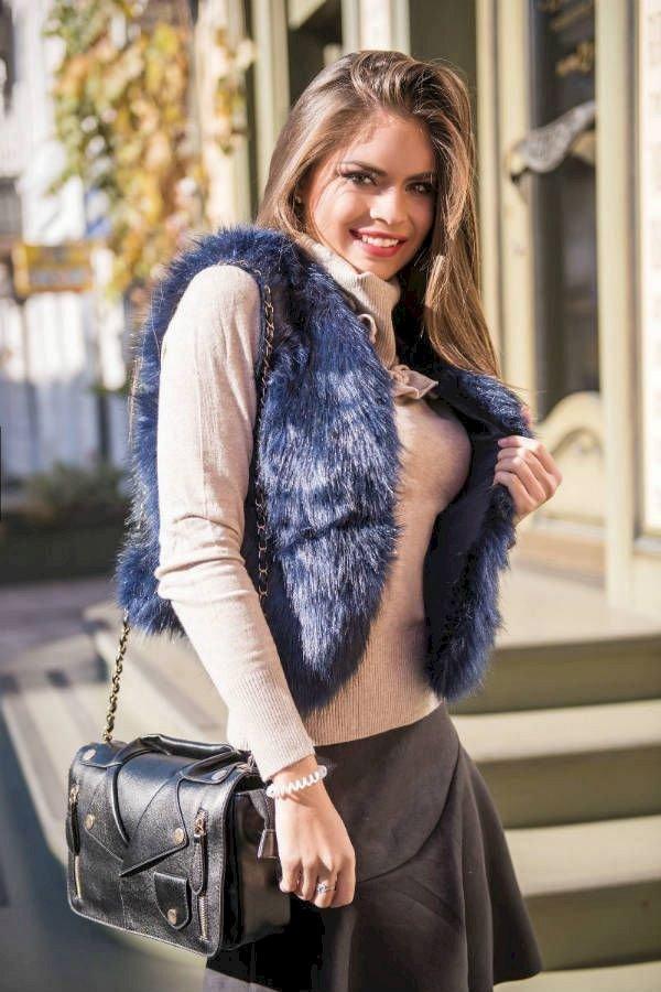 С чем носить меховую жилетку и как ее выбрать